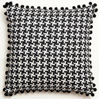 black and white abstract vintage cushion 472
