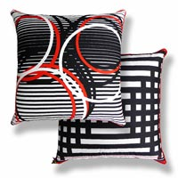 black and white abstract vintage cushion 473