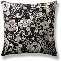 black and white abstract vintage cushion 620