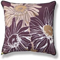 brown abstract vintage cushion 665 Front