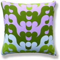 green abstract vintage cushion 701