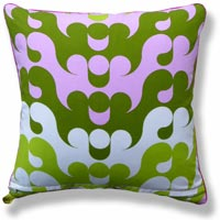 green abstract vintage cushion