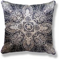 black and white abstract vintage cushion 706