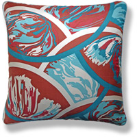 cyan abstract vintage cushion 772