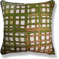 green abstract vintage cushion 800 Front