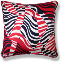 black and white abstract vintage cushion 803
