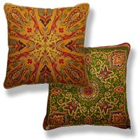 orange abstract vintage cushion 812