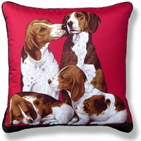 red animal vintage cushion 676