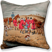 red animal vintage cushion 858