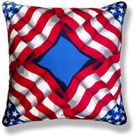 red flag vintage cushion 663