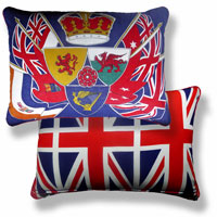blue flag vintage cushion 755