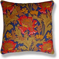 green floral vintage cushion 432