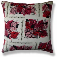 red floral vintage cushion 491