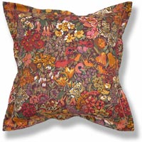 orange floral vintage cushion 643