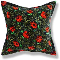 green floral vintage cushion 649