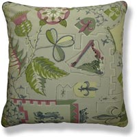green floral vintage cushion 766