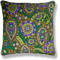 green floral vintage cushion 780