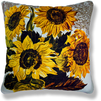 yellow floral vintage cushion 784
