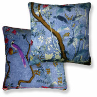 blue floral vintage cushion 851