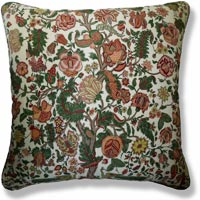 green floral vintage cushion 905 Front