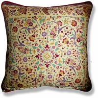 blue floral vintage cushion 953