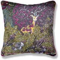 yellow floral vintage cushion