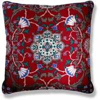 red floral vintage cushion 972