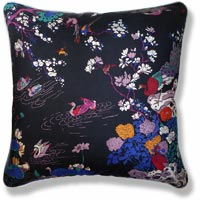 black and white floral vintage cushion 980