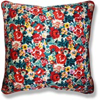 green floral vintage cushion