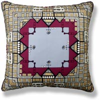 red graphic vintage cushion 703