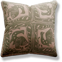 green graphic vintage cushion 789