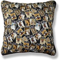 black and white graphic vintage cushion 808