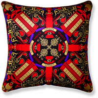 red graphic vintage cushion 874