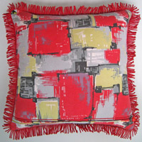 red retro vintage cushion 412