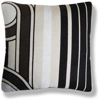 black and white retro vintage cushion 485