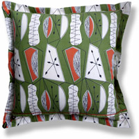 green retro vintage cushion 575