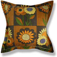 yellow retro vintage cushion 743