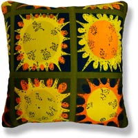green retro vintage cushion 745