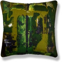 green retro vintage cushion 776