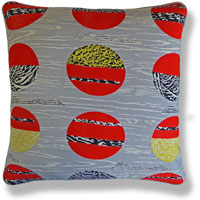 red retro vintage cushion 794
