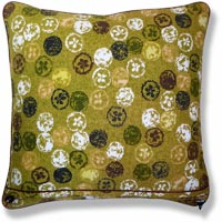 green retro vintage cushion