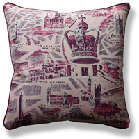 pink royal vintage cushion 712