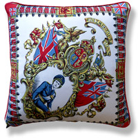 red royal vintage cushion 721