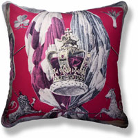 red royal vintage cushion 833