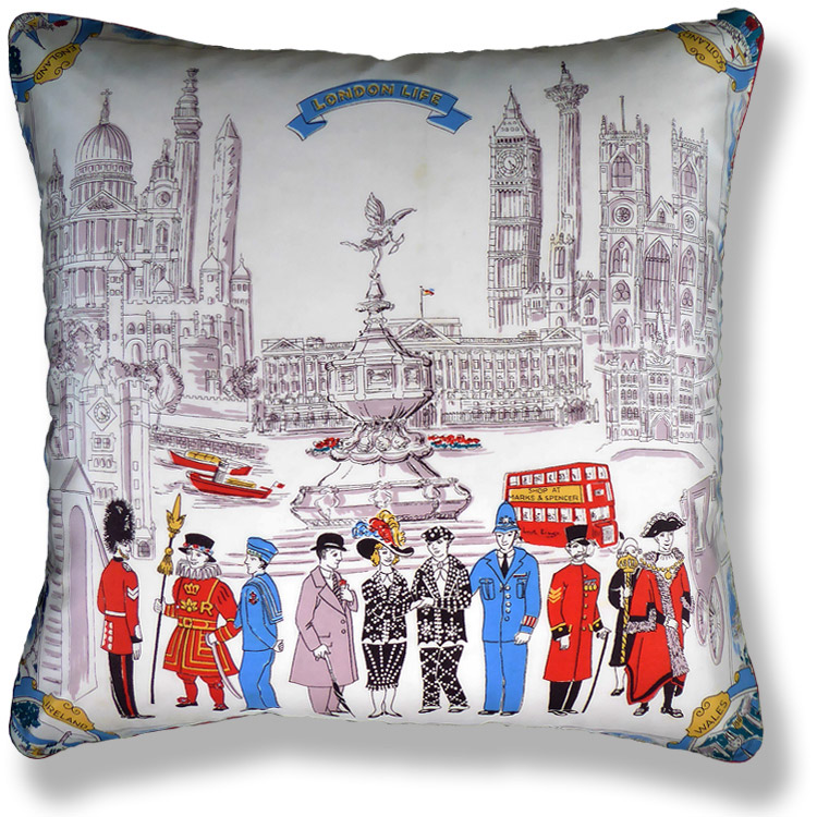 black and white travel vintage cushion 731