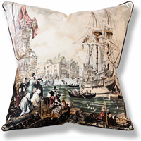 green travel vintage cushion 652