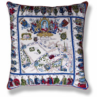 blue travel vintage cushion 658