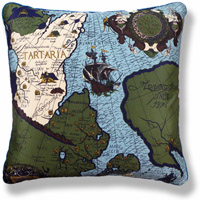 green travel vintage cushion 702