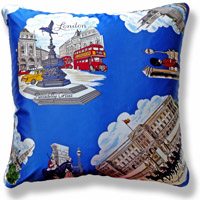 blue travel vintage cushion 718