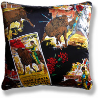 black and white travel vintage cushion 724